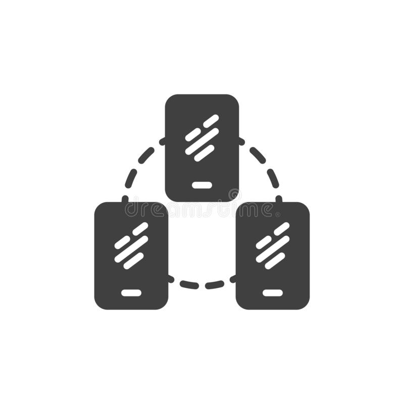 Mobile phone server connection vector icon vector illustration