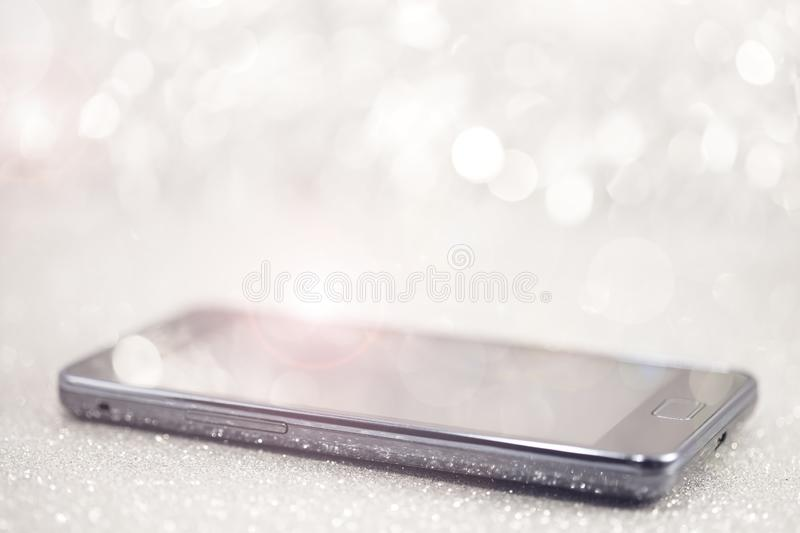 Sparkle mobile phone royalty free stock image