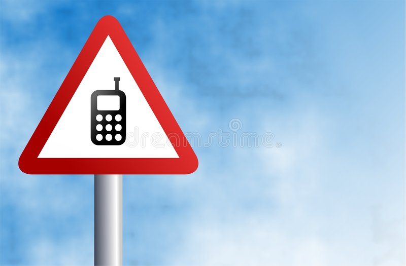 Mobile phone sign royalty free illustration