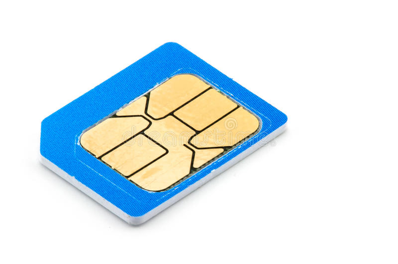 mobile phone sim card on white background royalty free stock image