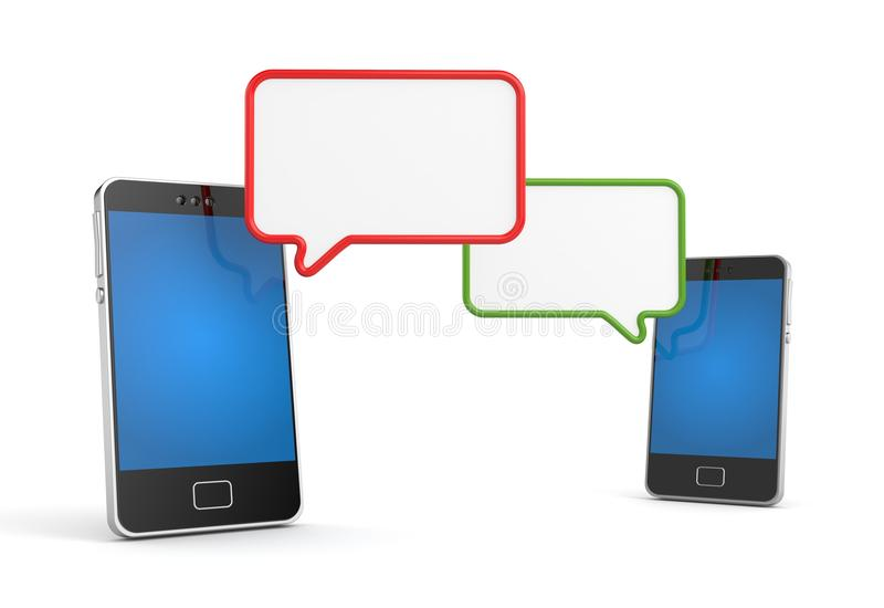 Download Mobile Phone With Speech Bubble Stock Illustration - Image: 28707511