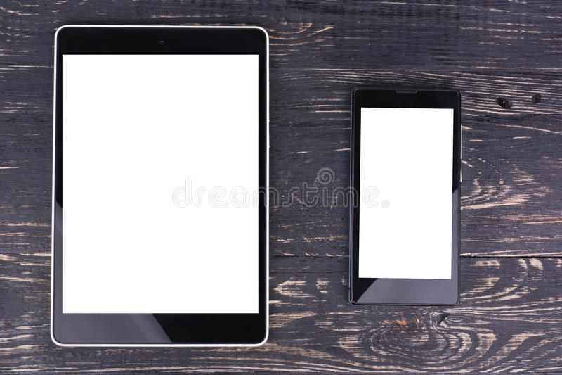Mobile phone and tablet PC stock photos