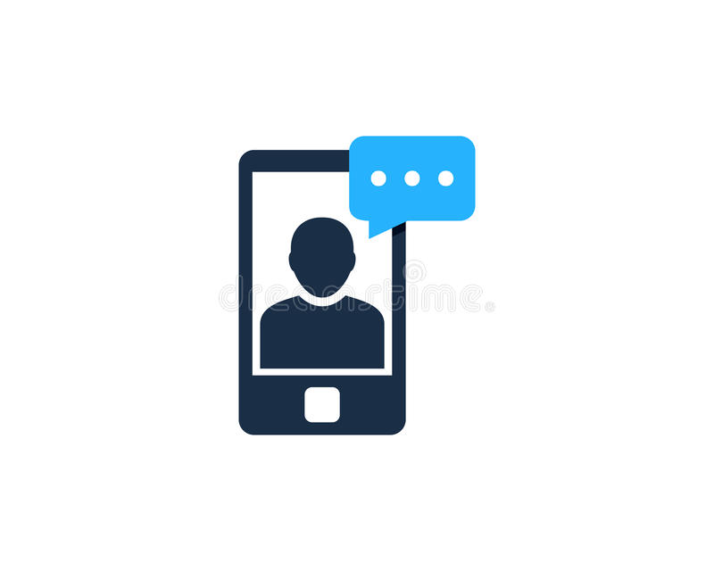 Mobile Phone Testimonial Icon Logo Design Element. This design can be used as a logo, icon or as a complement to a design vector illustration