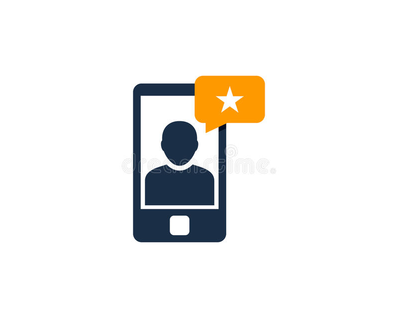 Mobile Phone Testimonial Icon Logo Design Element. This design can be used as a logo, icon or as a complement to a design stock illustration