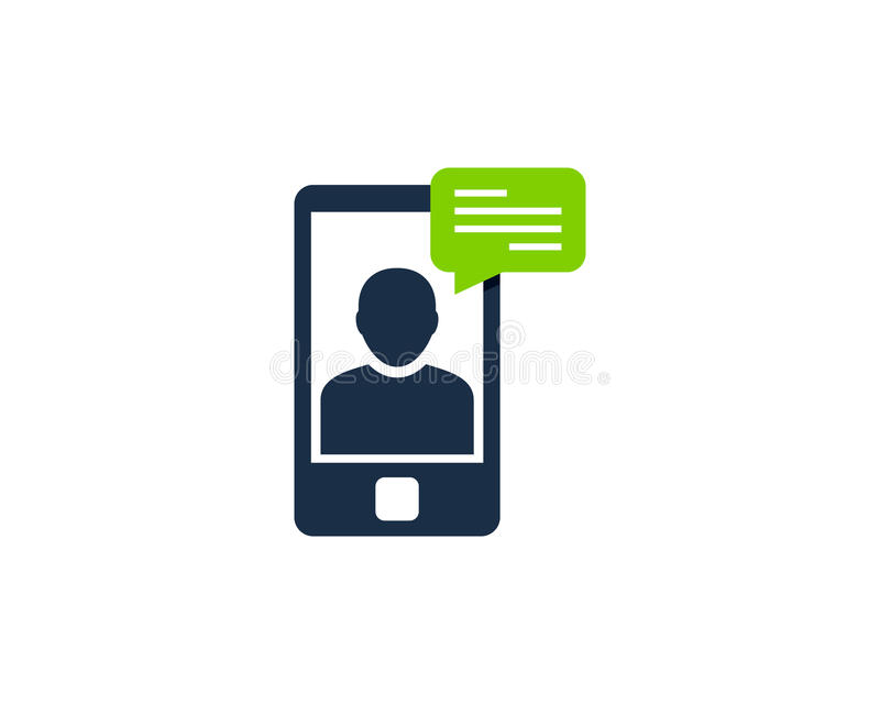 Mobile Phone Testimonial Icon Logo Design Element. This design can be used as a logo, icon or as a complement to a design royalty free illustration