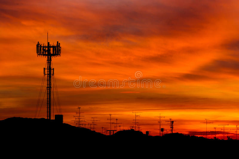 Mobile Phone Tower Stock Photo