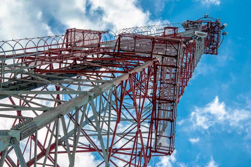 Mobile phone tower royalty free stock photo