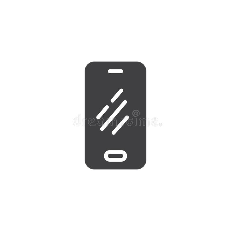 Mobile phone vector icon vector illustration