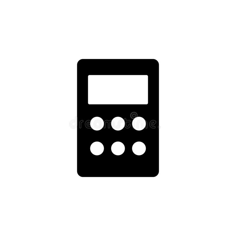 Mobile, phone vector icon. Simple element illustration from UI concept.  Mobile concept vector illustration. Mobile, phone vector royalty free illustration