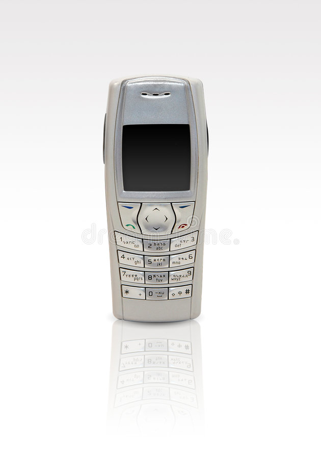 Mobile phone - white background royalty free stock images
