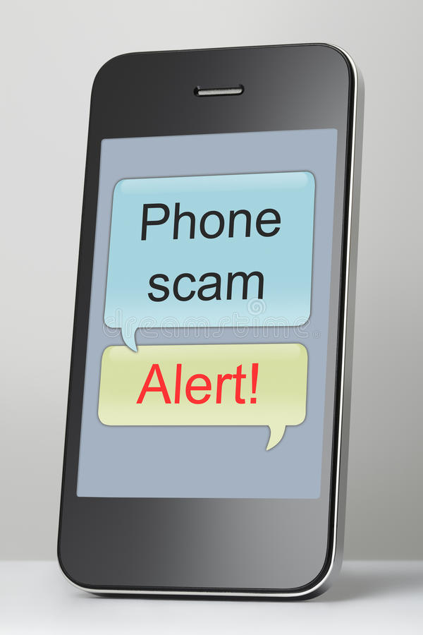 Free Mobile Phone With Scam Message Speech Bubble Stock Photo - 30558940
