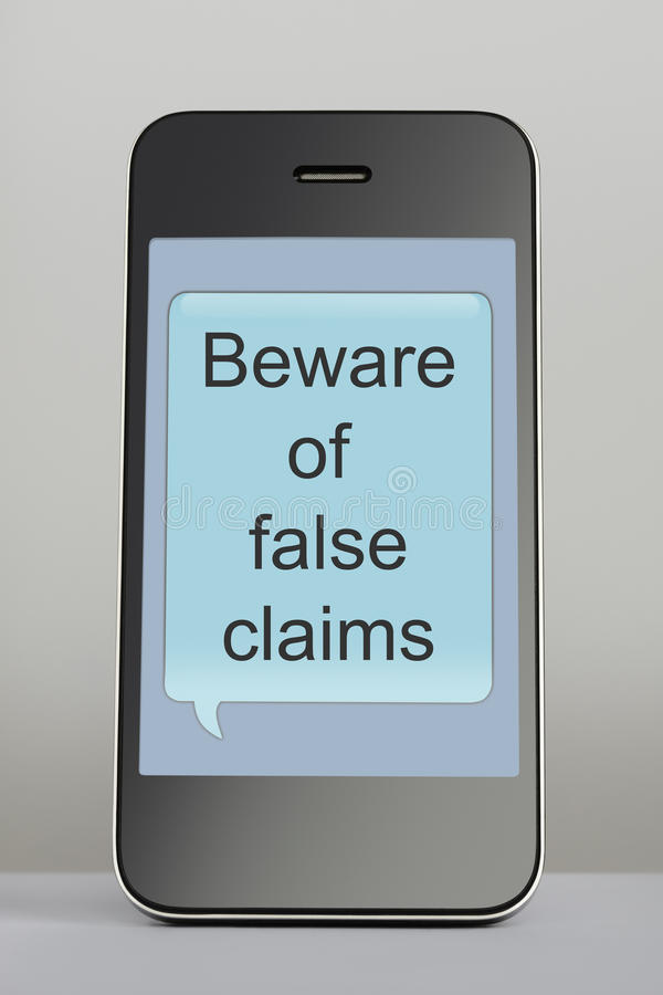 Free Mobile Phone With Scam Message Speech Bubble Stock Photos - 30559043