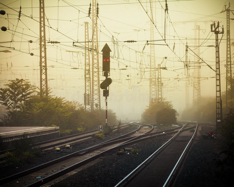 Download Mobile Photography Tone Confusing Rail Tracks Dusk Stock Image - Image: 28410045