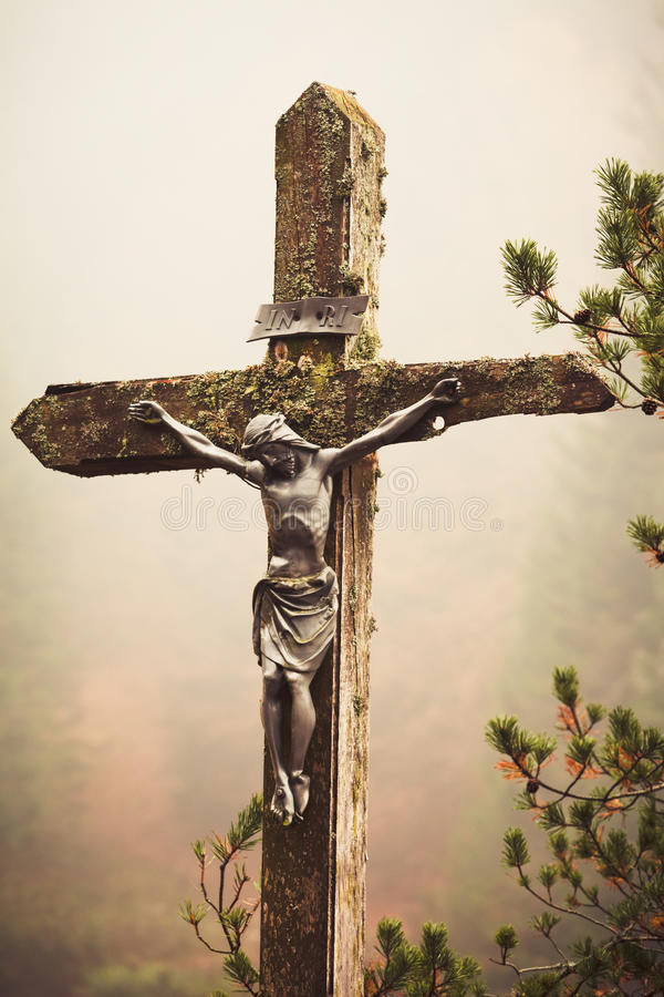 Download Mobile Photography Toned Crucifixed Christ Outdoor Stock Photo - Image: 28410052