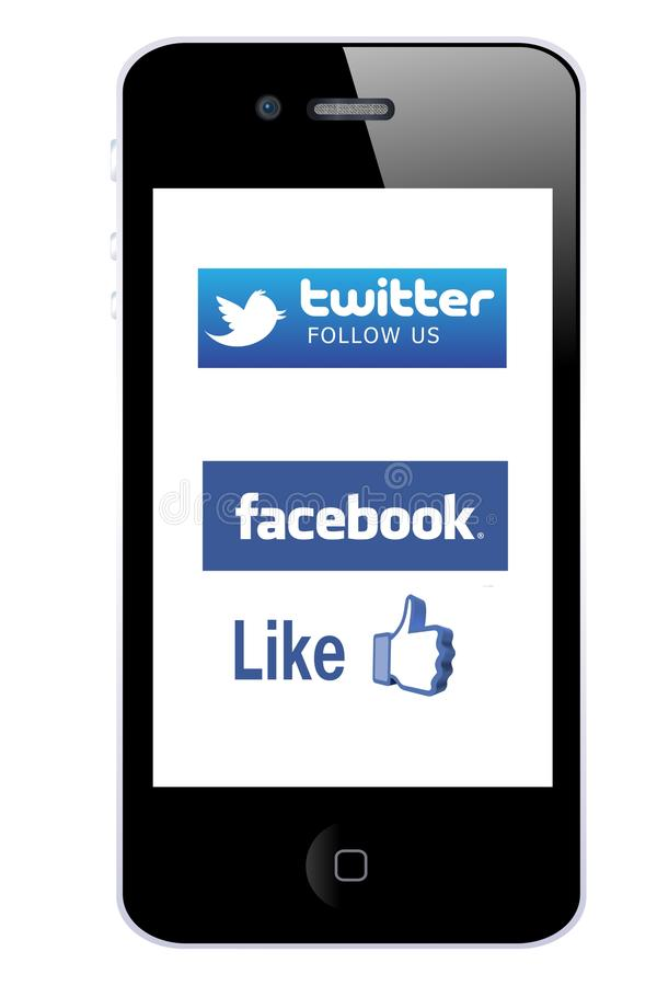 Download Mobile promotion editorial stock photo. Image of logos - 22912893
