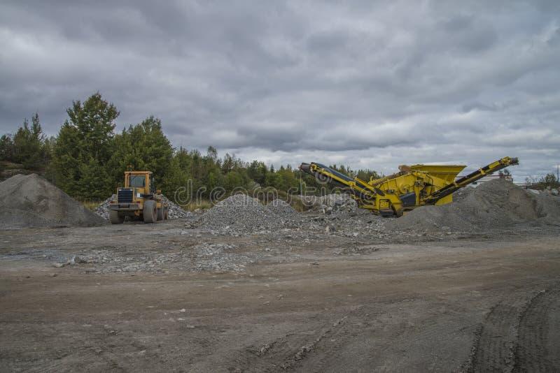 Mobile quarry royalty free stock photos