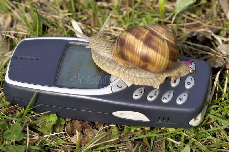 Mobile réellement lent photo stock