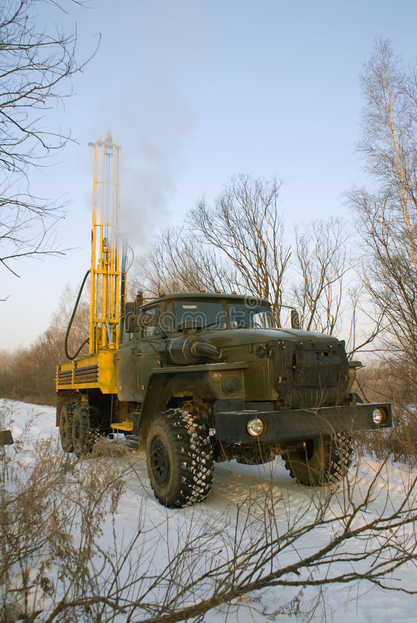 Mobile rig stock images
