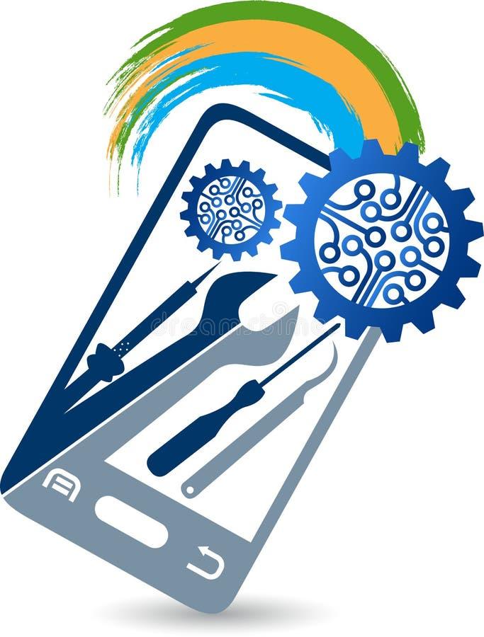 Mobile service logo stock illustration