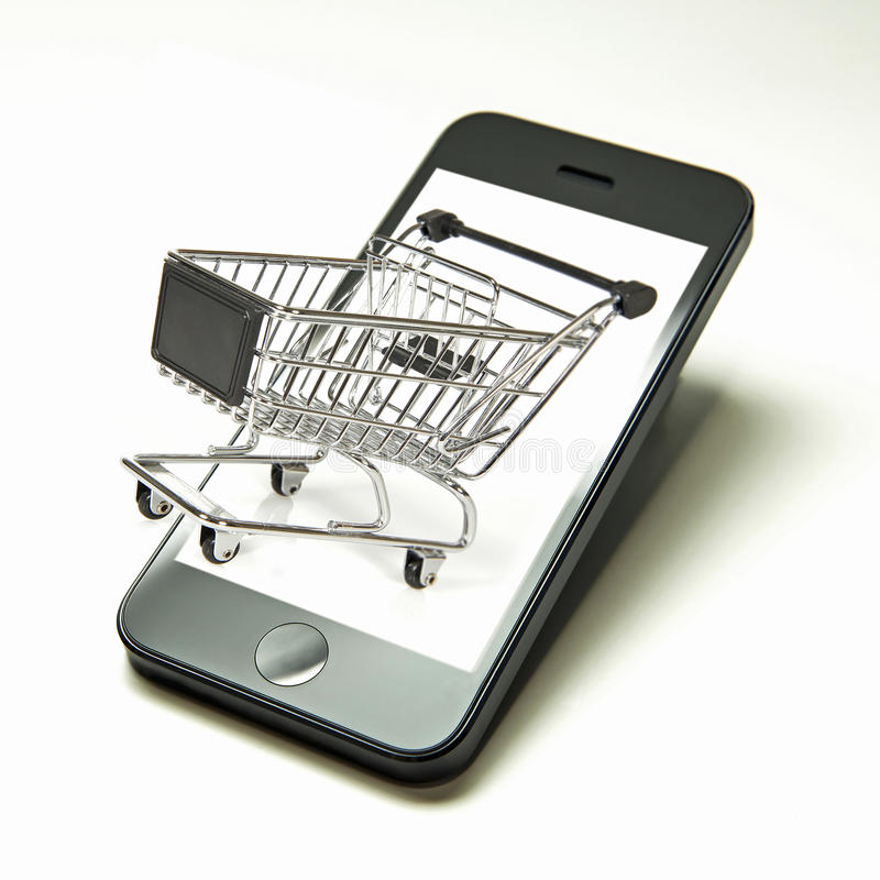 Mobile shopping stock images