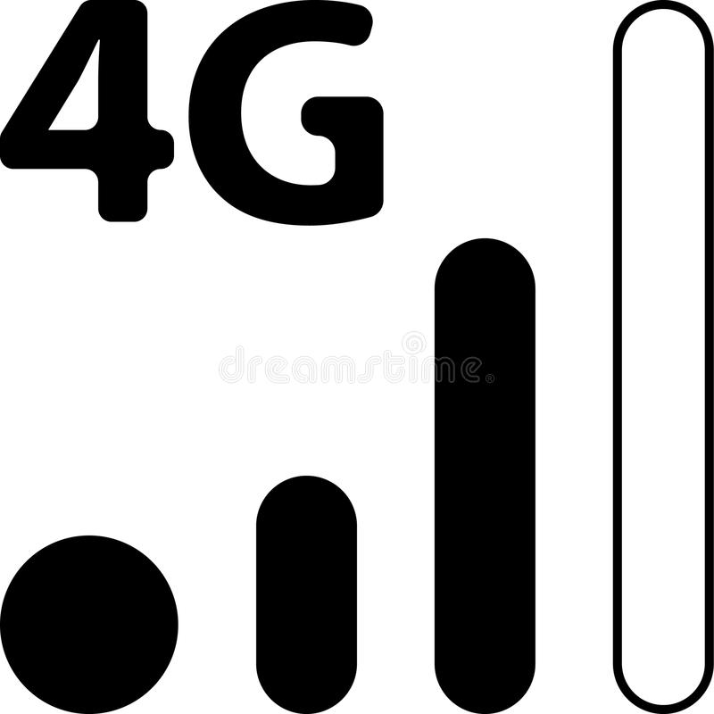 Mobile Smart Phone 4G Network Vector Icon royalty free illustration