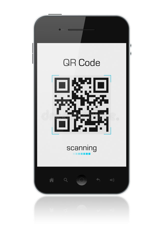 Mobile Smart Phone Showing Qr Code Scanner Editorial Stock