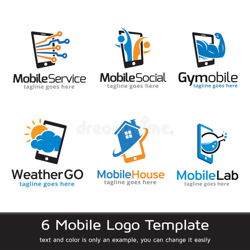 Mobile Template Design Vector. This design suitable for logo or icon royalty free illustration