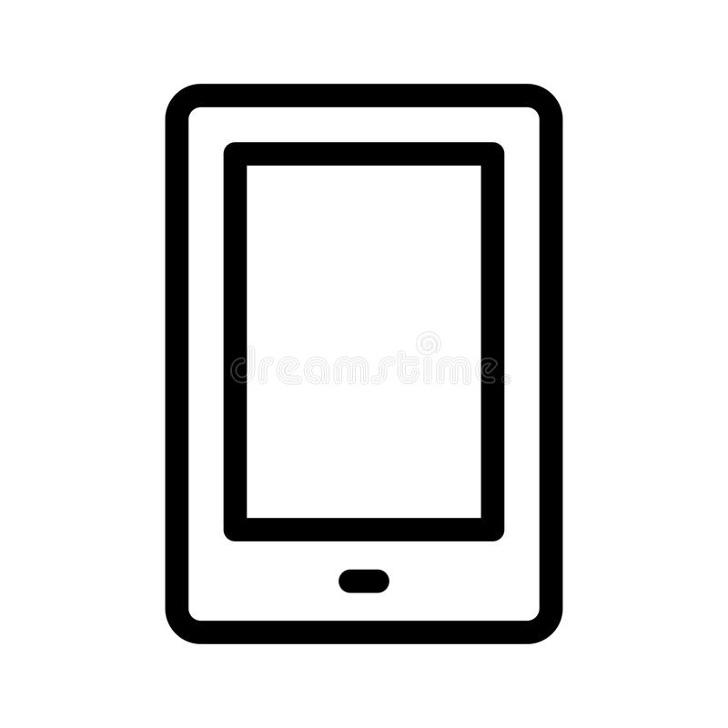 Mobile icon. Mobile thin line vector icon royalty free illustration