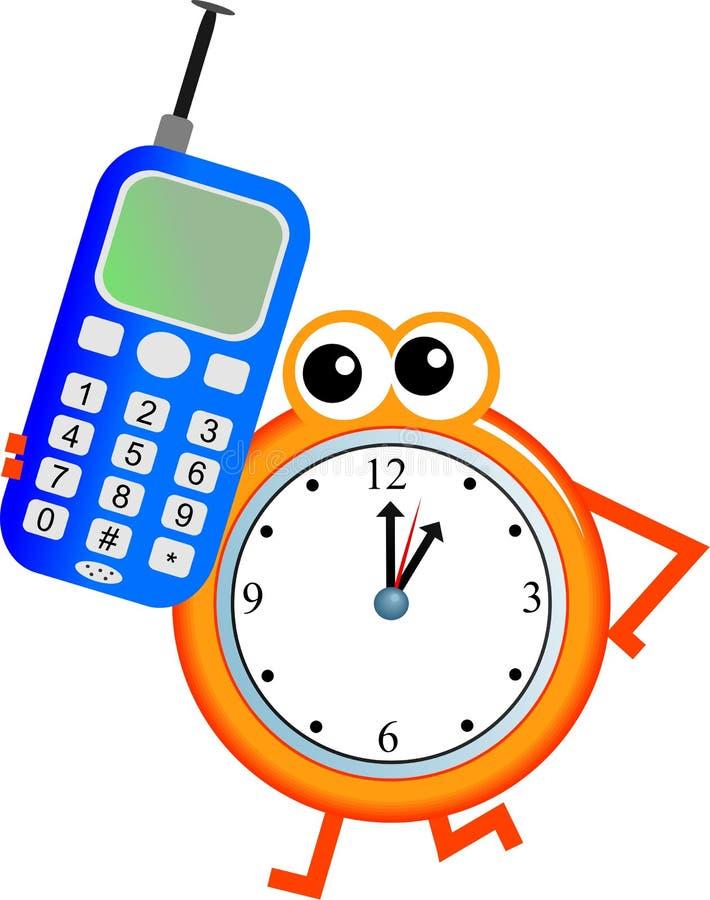 Download Mobile time stock illustration. Illustration of mobile - 7456662