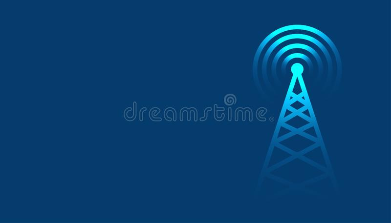 Mobile tower transmission radar technology background design. Vector vector illustration