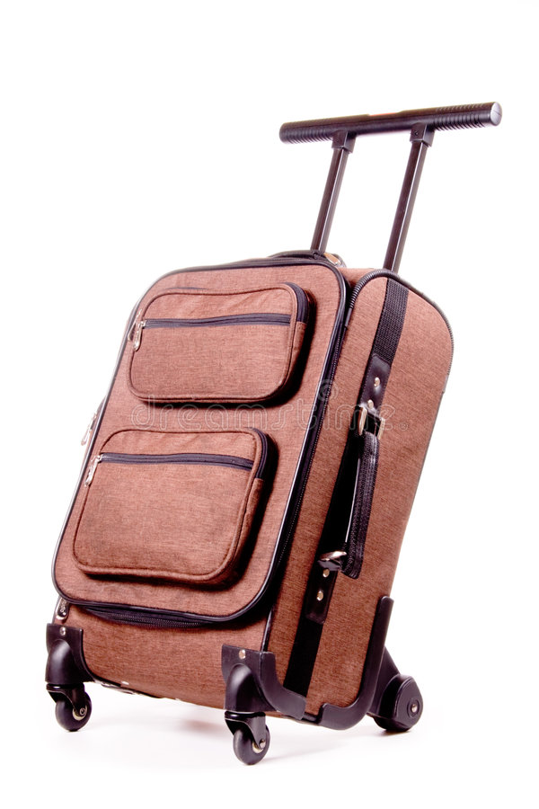 Download Mobile Trolley Case stock photo. Image of case, brown - 5073640