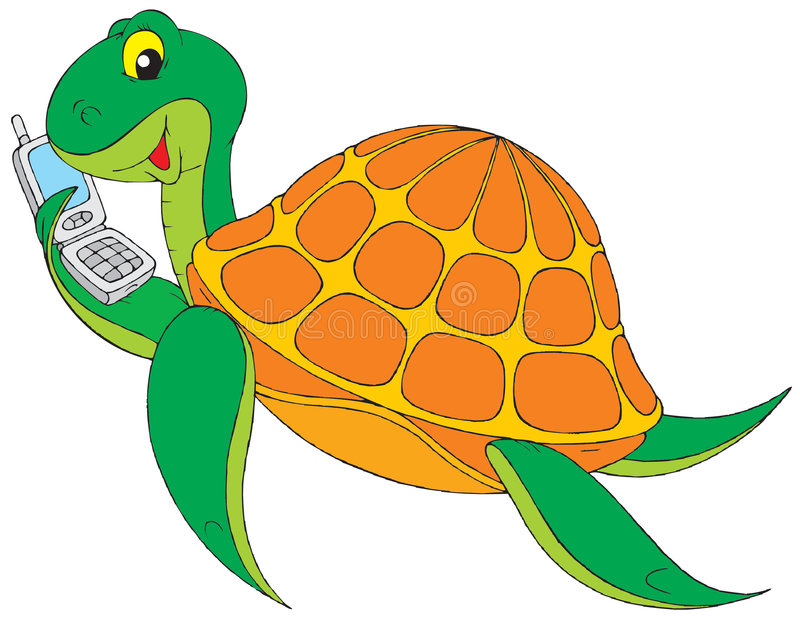 Download Mobile turtle stock vector. Image of animal, joke, curves - 3166387
