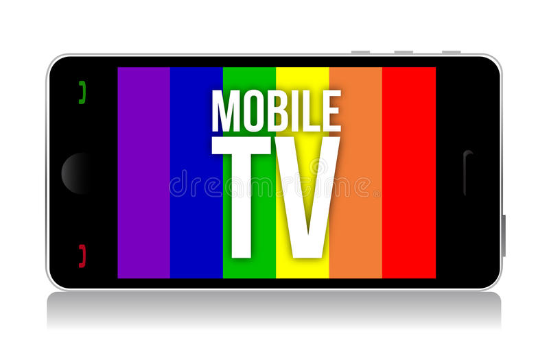 Mobile Tv Illustration Design Stock Vector - Illustration of concept ...