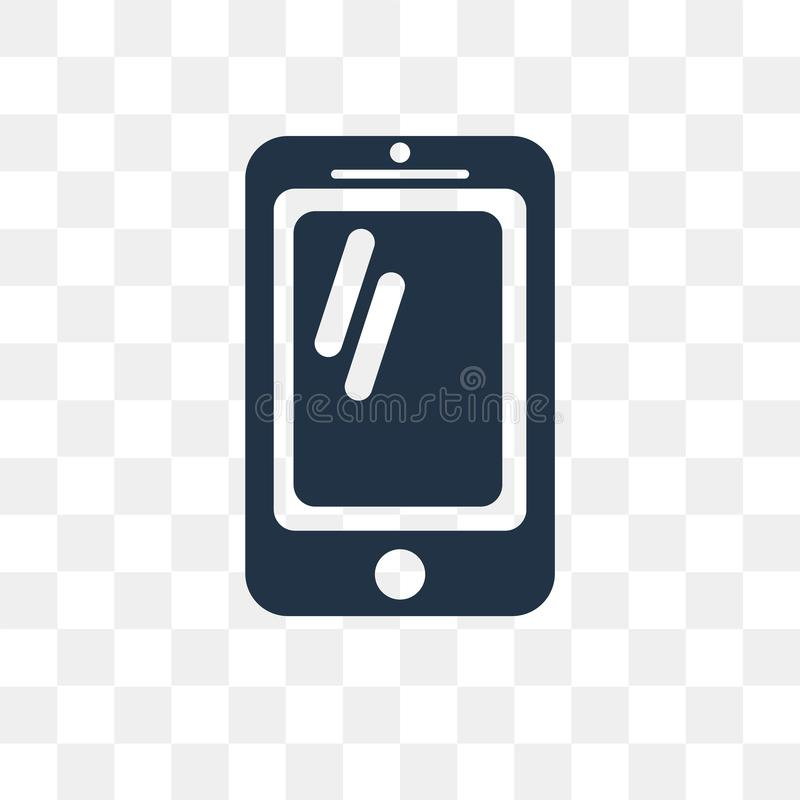 Mobile vector icon isolated on transparent background, Mobile t stock illustration