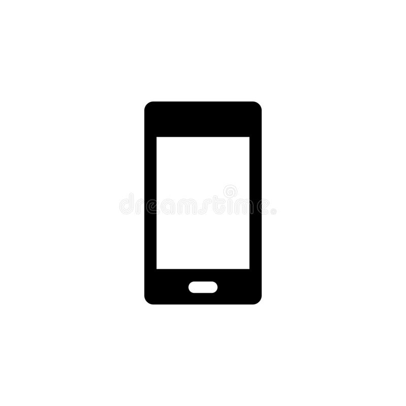 Mobile vector icon. Simple element illustration from UI concept.  Mobile concept vector illustration. Mobile vector icon. On white background stock illustration