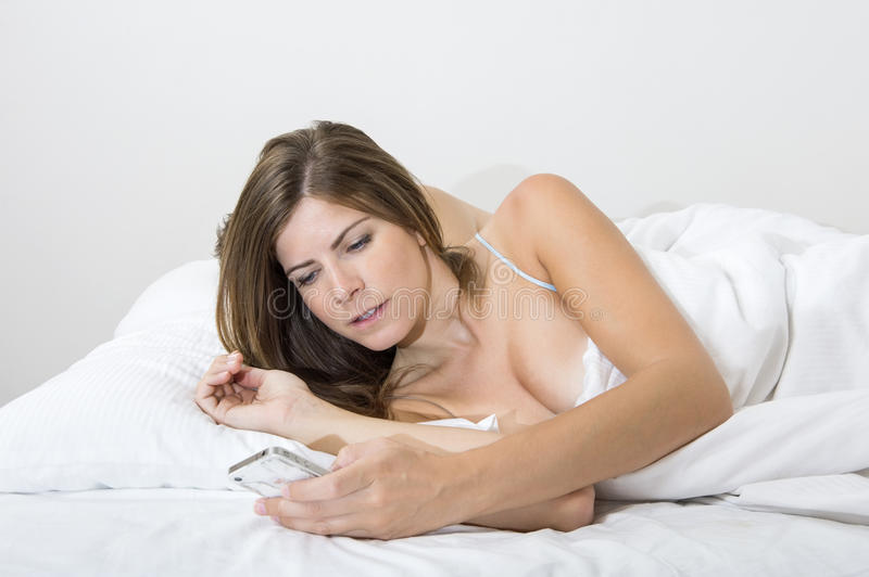 Mobile Wake up call stock photography