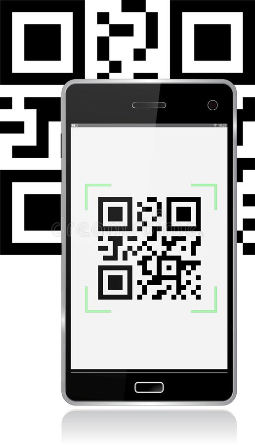 Free Mobile With Qr Code Stock Images - 27352234