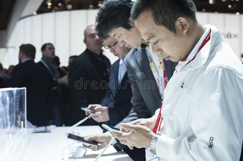 MOBILE WORLD CONGRESS 2015 royalty free stock photography
