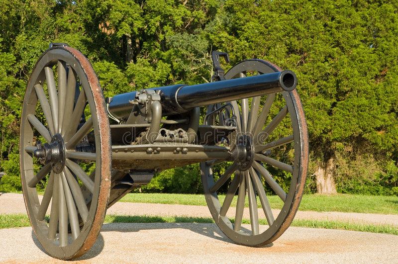 Mobile WWI cannon royalty free stock photos
