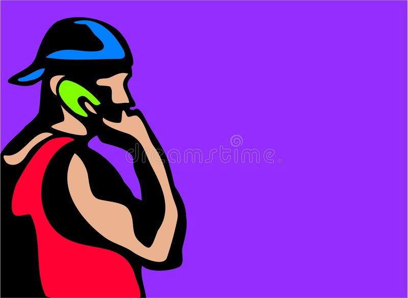 Mobile youth vector illustration