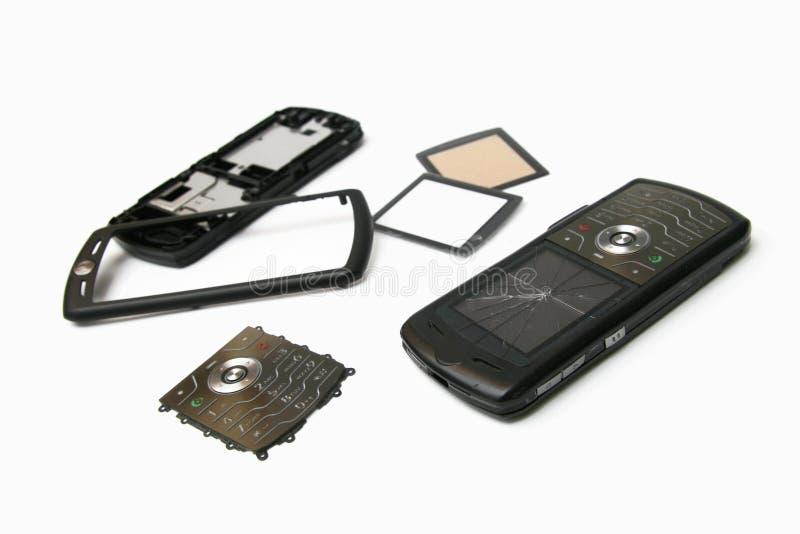 mobilen parts telefonen arkivfoto