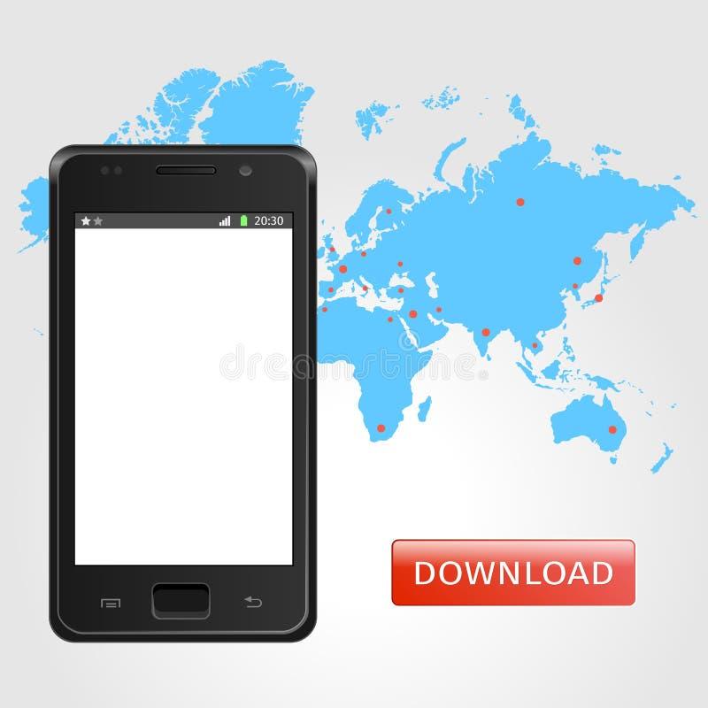 Mobilen ringer Universal Mobile har kontakt vektor illustrationer
