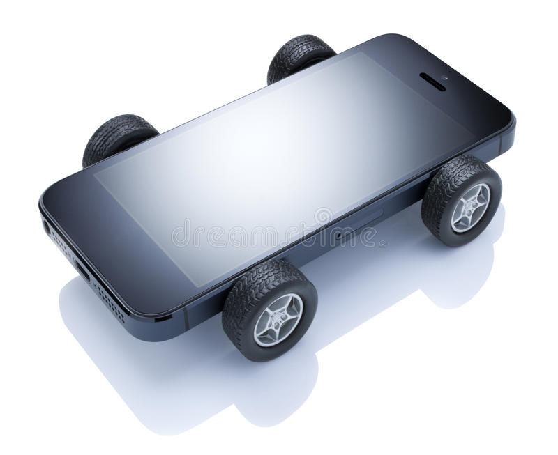 Mobiler Auto-Handy lizenzfreies stockbild