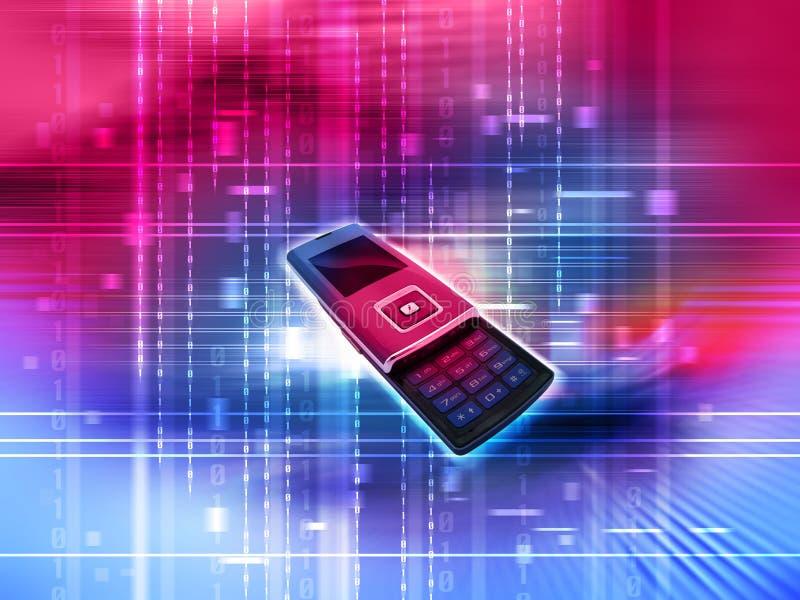 Mobiler Handy lizenzfreie abbildung