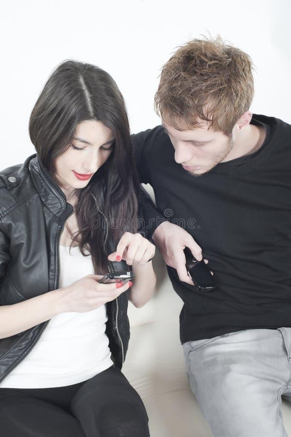 mobiler phone att leka royaltyfri fotografi