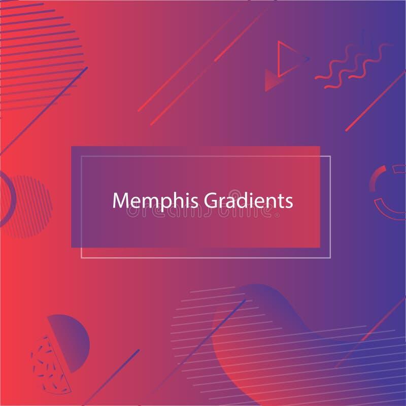MobileRed-blauwe Banner in de stijl van Memphis Abstracte geometrische vormensamenstelling Gebruik voor affiche, uitnodiging royalty-vrije illustratie