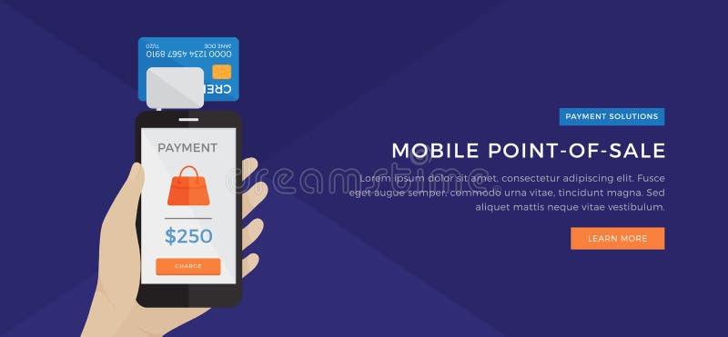 Mobiles Zahlungs-Kassenterminal stockfoto