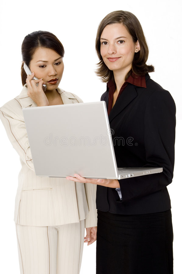Mobilfunkgeschäft-Team stockbild