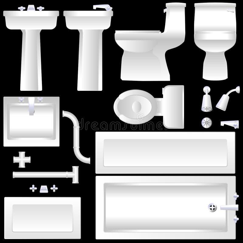 Mobiliário do banheiro ilustração stock