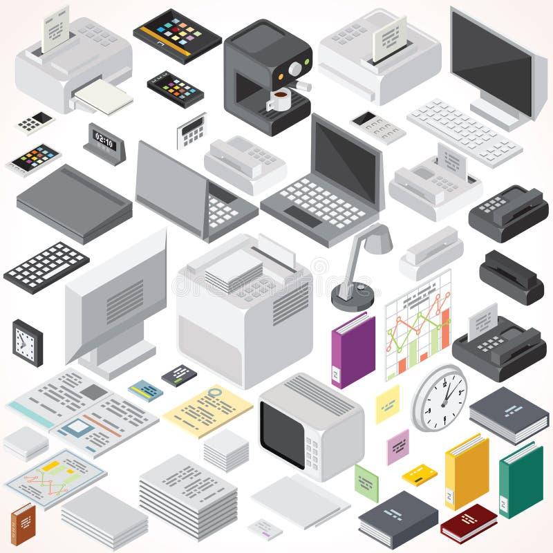 Mobili d 39 ufficio isometrici e oggetti interni for Oggetti da ufficio
